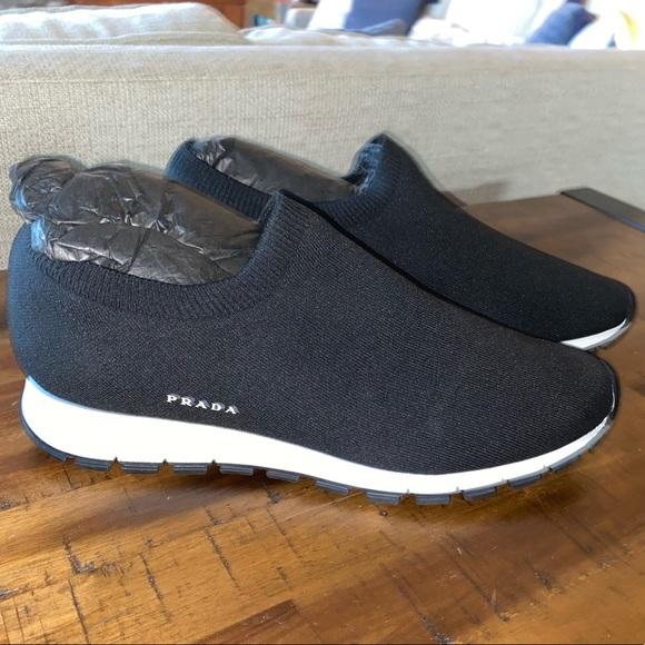 Prada Calzature Uomo Sport Knit Shoes